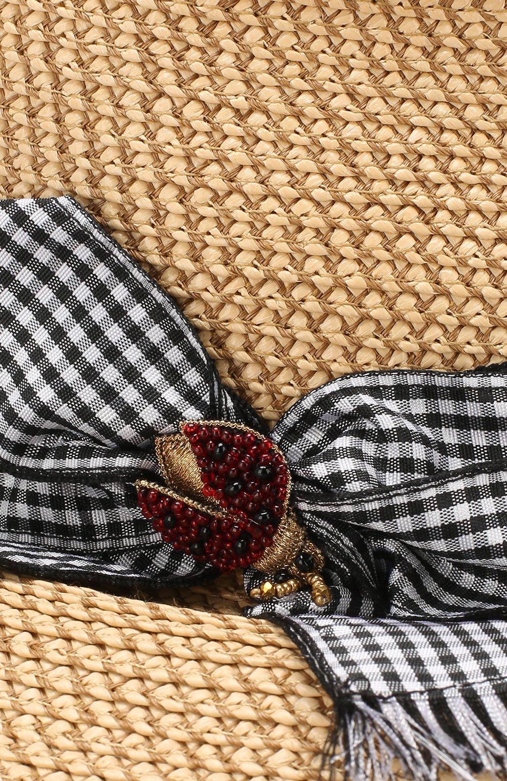 Шляпа с лентой Eric Javits бежевого цвета | Фото №3