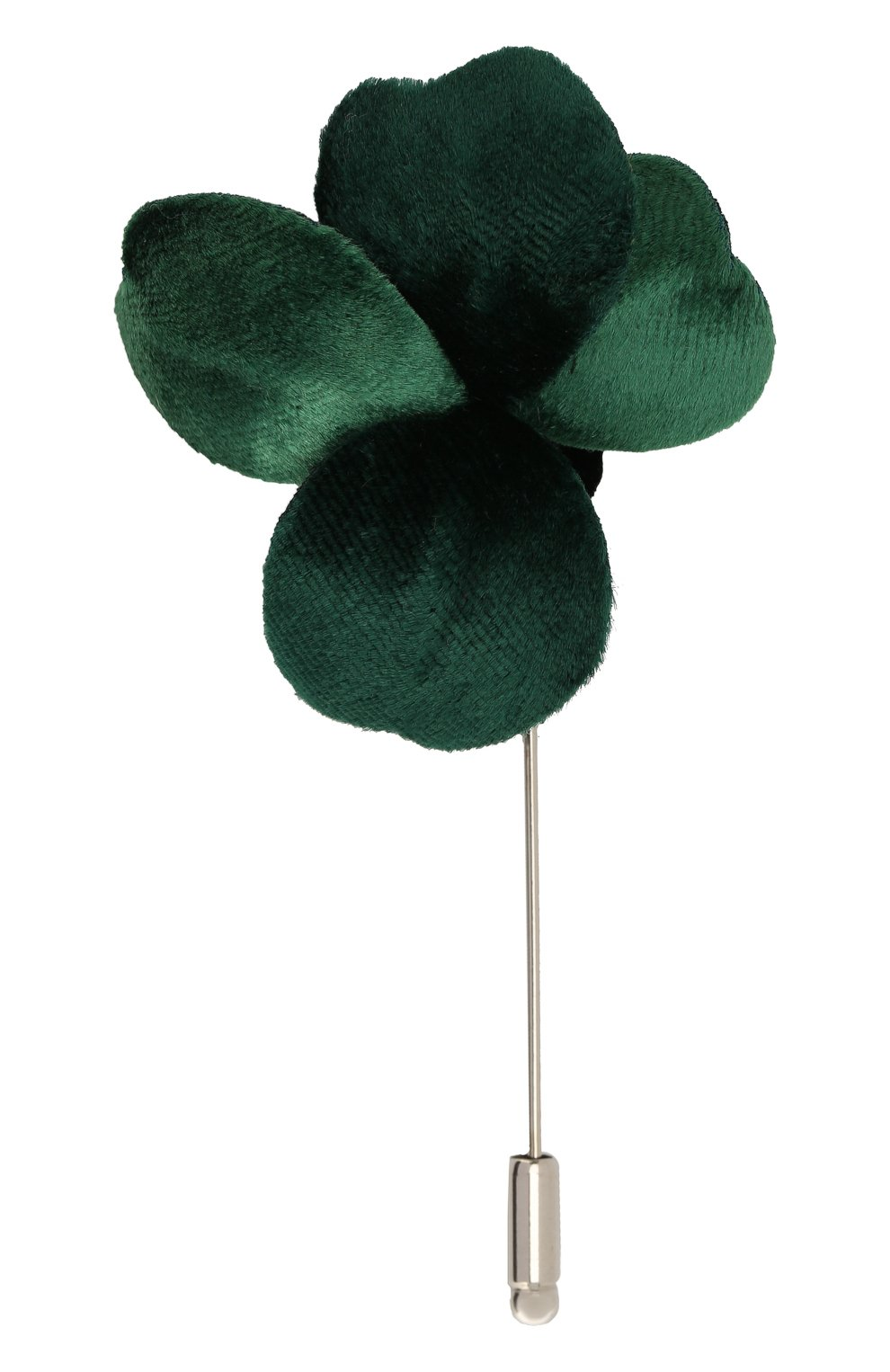 Мужская булавка для галстука FLOWER ME зеленого цвета, арт. THREE-VT008010S | Фото 1