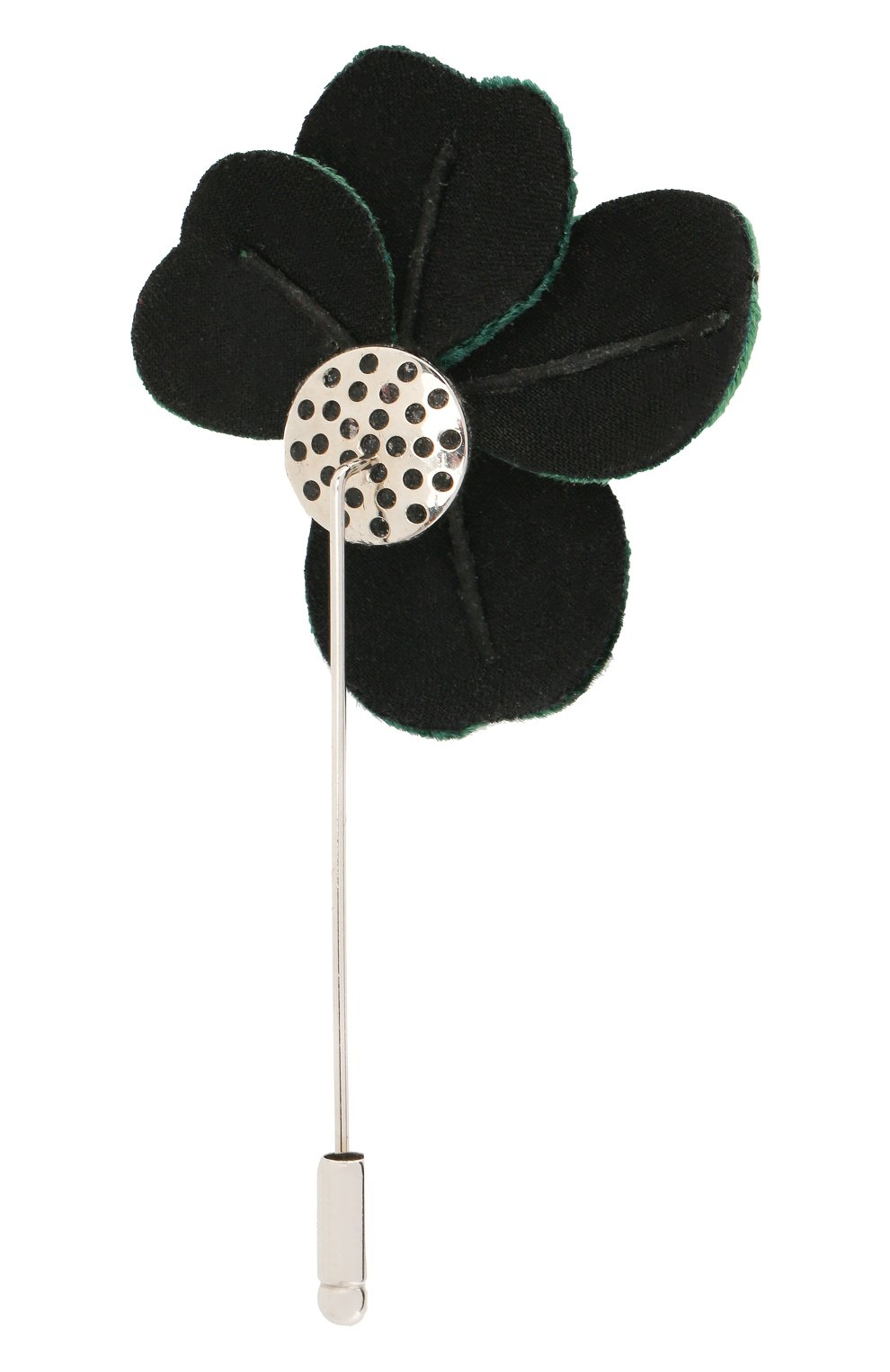 Мужская булавка для галстука FLOWER ME зеленого цвета, арт. THREE-VT008010S | Фото 2
