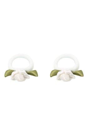 Детская комплект из 2-х резинок rosette small JUNEFEE белого цвета, арт. 5899 | Фото 2