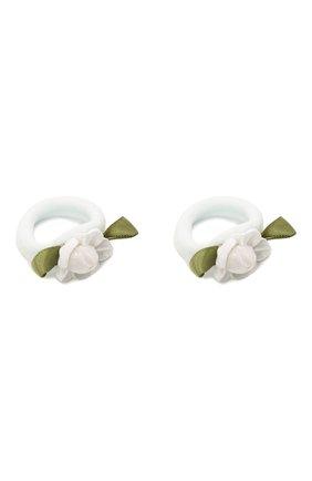 Детская комплект из двух резинок JUNEFEE белого цвета, арт. 5899   Фото 3 (Статус проверки: Проверена категория)