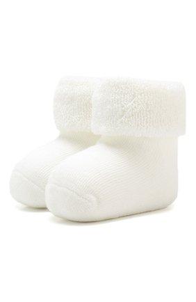 Детские хлопковые носки FALKE белого цвета, арт. 10612 | Фото 1