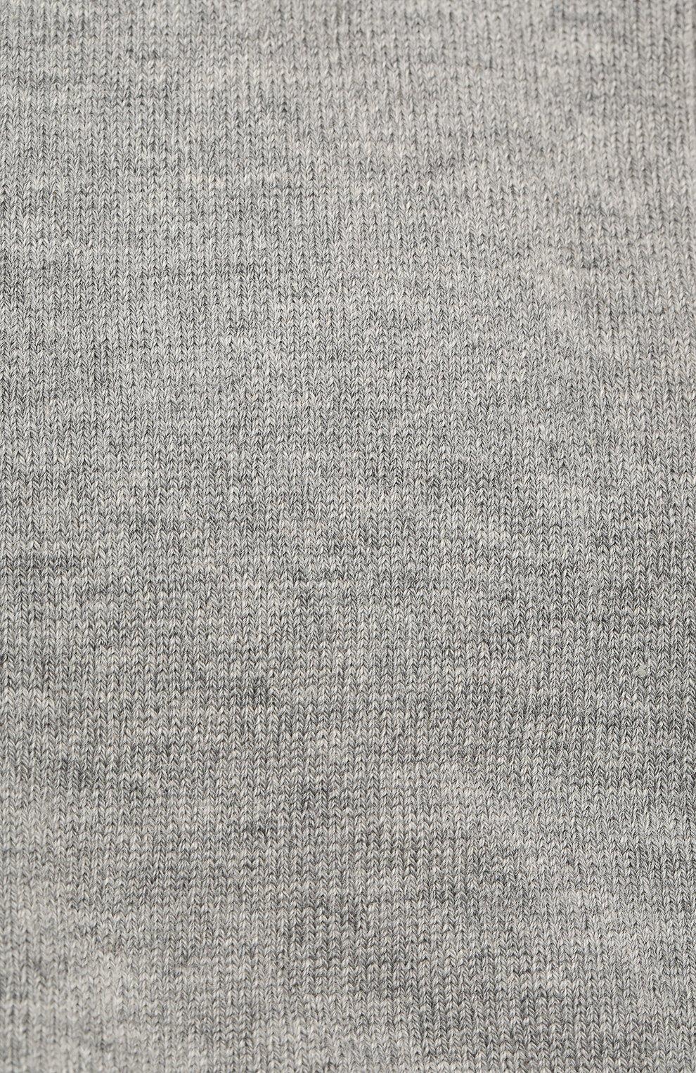 Детские хлопковые гольфы Falke серого цвета | Фото №2