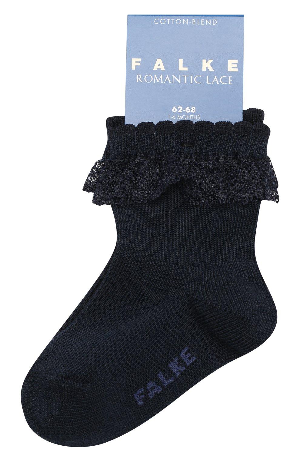 Детские хлопковые носки FALKE темно-синего цвета, арт. 12121   Фото 1