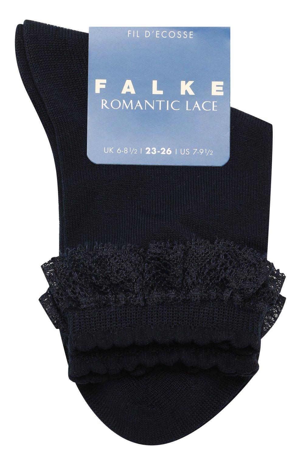Детские хлопковые носки FALKE темно-синего цвета, арт. 12141 | Фото 1
