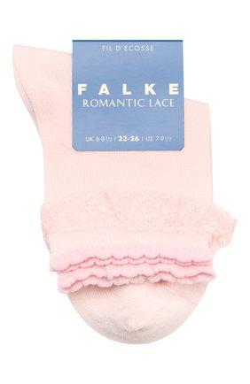 Детские хлопковые носки FALKE светло-розового цвета, арт. 12141 | Фото 1