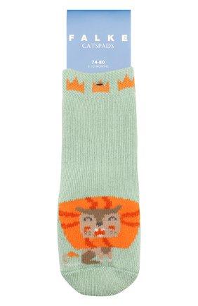 Детские хлопковые носки FALKE зеленого цвета, арт. 12183 | Фото 1