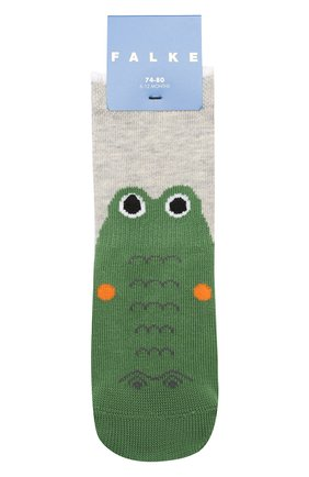 Детские хлопковые носки FALKE серого цвета, арт. 12186 | Фото 1