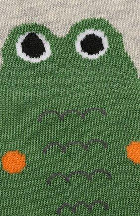 Детские хлопковые носки FALKE серого цвета, арт. 12186 | Фото 2