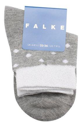 Детские хлопковые носки FALKE серого цвета, арт. 12195 | Фото 1