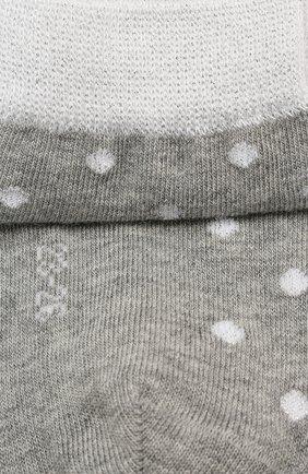 Детские хлопковые носки FALKE серого цвета, арт. 12195 | Фото 2