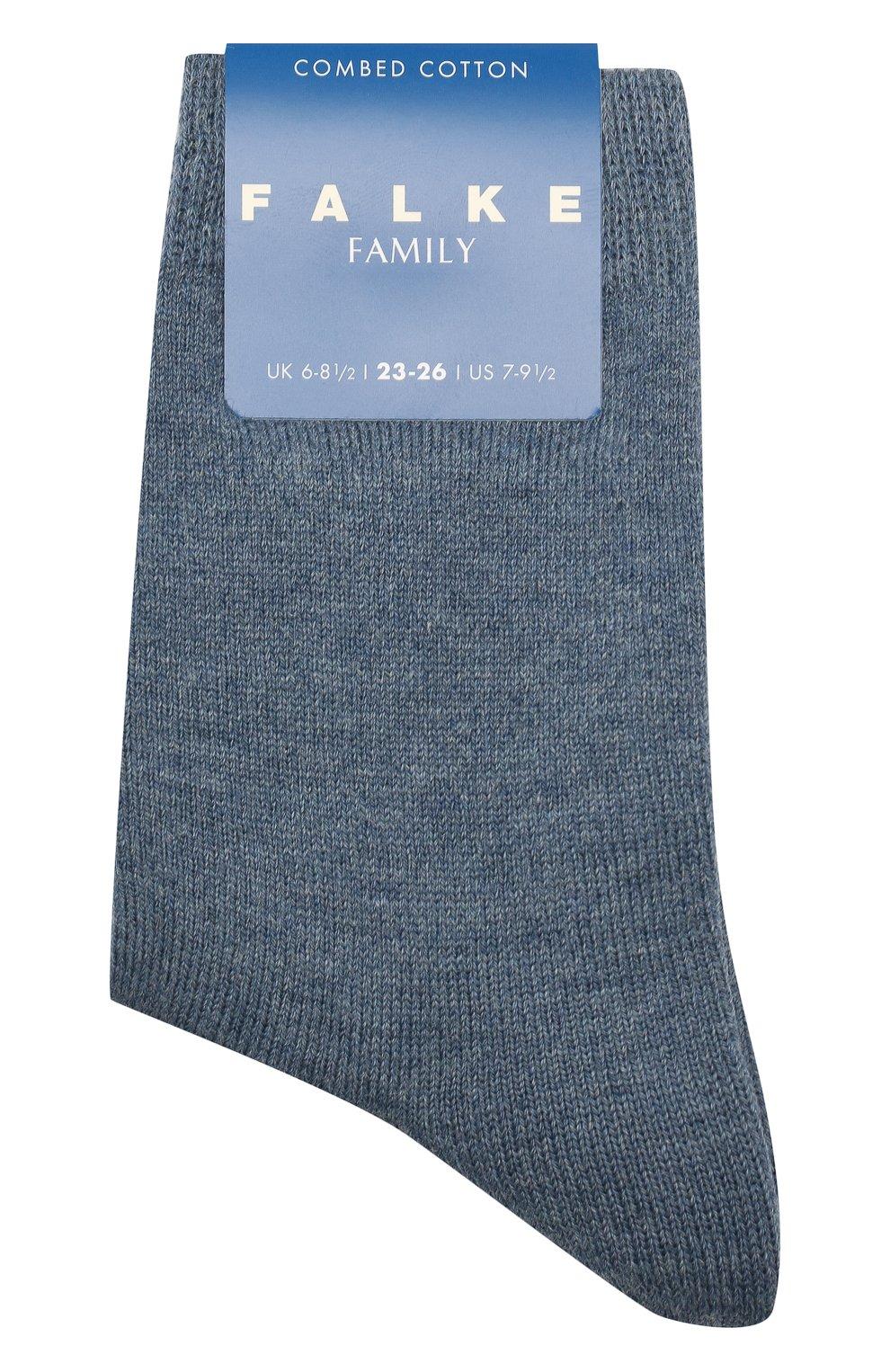 Детские хлопковые носки FALKE голубого цвета, арт. 10645 | Фото 1