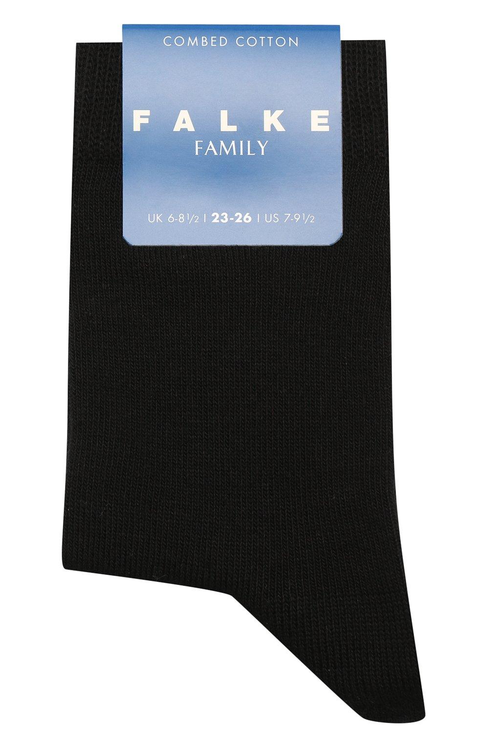 Детские хлопковые носки FALKE черного цвета, арт. 10645 | Фото 1