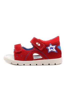 Детские кожаные сандалии с застежкой велькро FALCOTTO красного цвета, арт. 0011500772/02 | Фото 2