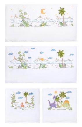 Детского комплект из 4-х предметов для бортов кроватки LORETTA CAPONI белого цвета, арт. 191K17318301701 | Фото 1