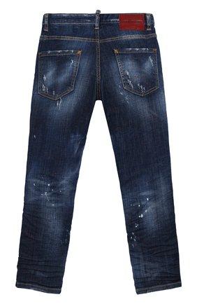 Детские джинсы прямого кроя DSQUARED2 синего цвета, арт. DQ039E-D00TB | Фото 2