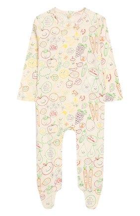 Детского комплект из хлопкового комбинезона и боди STELLA MCCARTNEY разноцветного цвета, арт. 547760/SMJE8   Фото 2