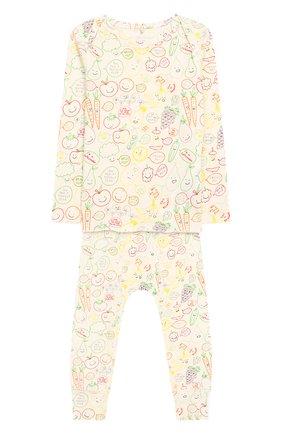 Детский хлопковая пижама STELLA MCCARTNEY разноцветного цвета, арт. 547794/SMJE8   Фото 1
