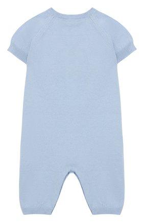 Детский хлопковый комбинезон BABY T голубого цвета, арт. 19PE015P | Фото 2