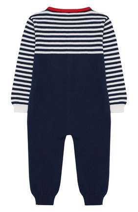Детский хлопковый комбинезон BABY T синего цвета, арт. 19PE031T | Фото 2