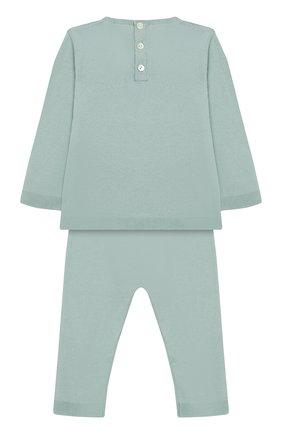 Комплект из хлопкового пуловера и брюк   Фото №2