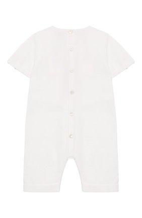 Детский хлопковый комбинезон BABY T белого цвета, арт. 19PE145P | Фото 2
