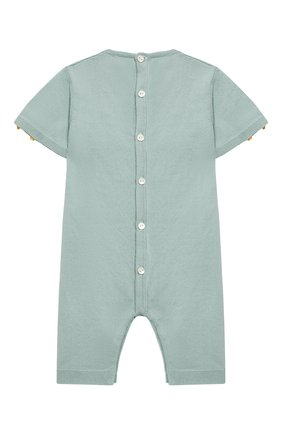 Детский хлопковый комбинезон BABY T зеленого цвета, арт. 19PE145P | Фото 2