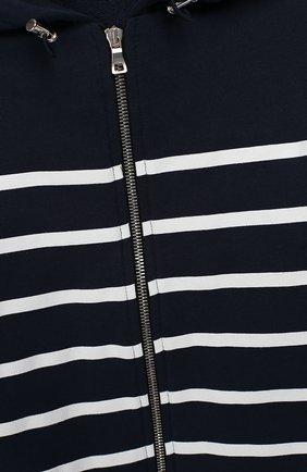 Детский хлопковый кардиган с капюшоном BALMAIN синего цвета, арт. 6K4590/KX290/12-16   Фото 3 (Рукава: Длинные; Мальчики Кросс-КТ: Толстовка-спорт; Материал внешний: Хлопок; Статус проверки: Проверено; Ростовка одежда: 12 лет   152 см, 13 - 15 лет   158 см, 16 лет   164 см)