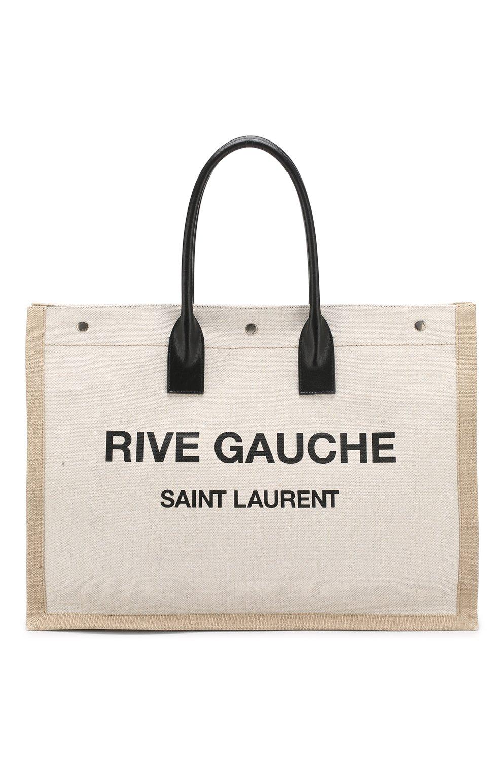 Сумка Noe Saint Laurent черно-белая цвета   Фото №1