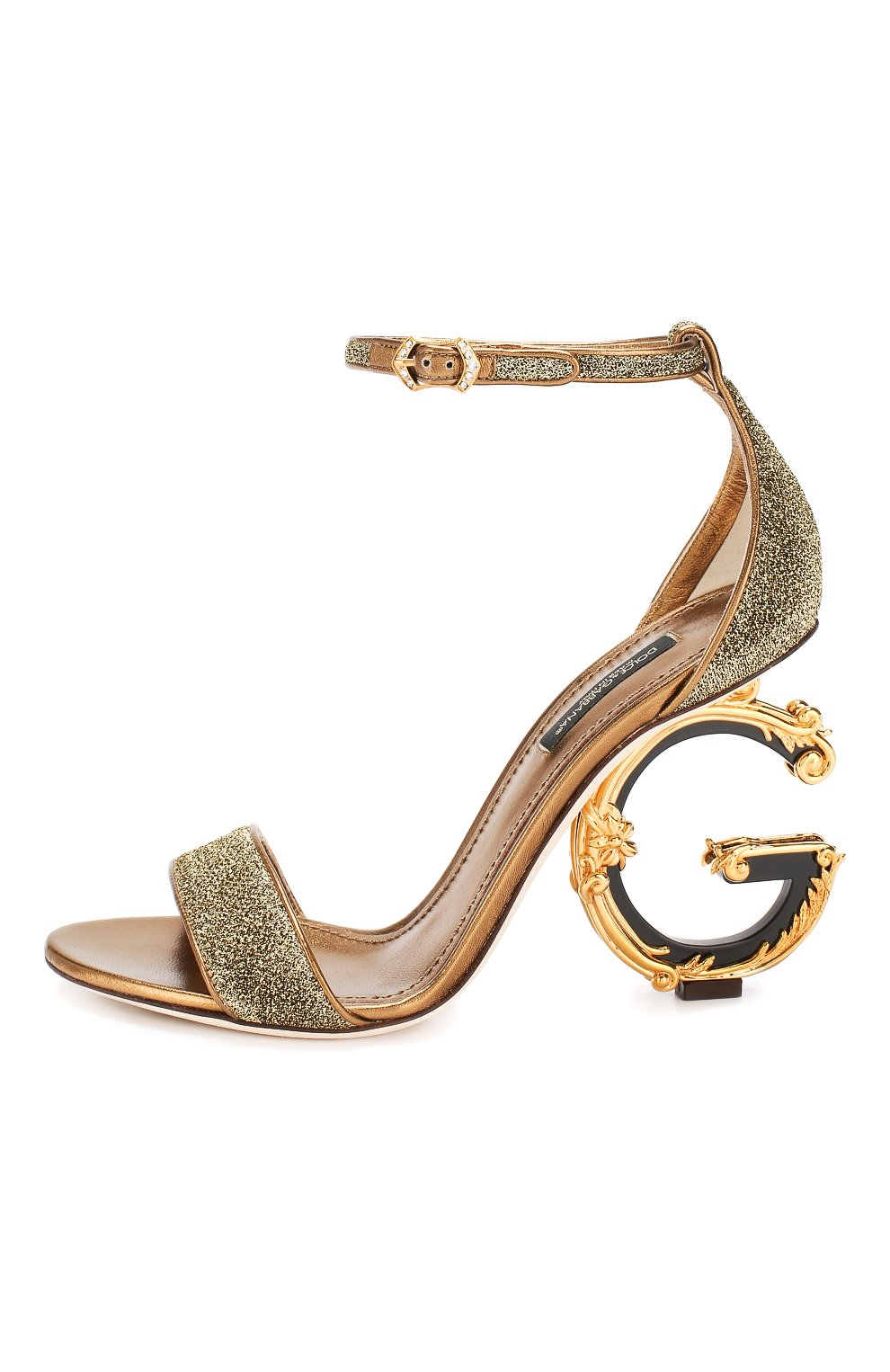 Босоножки Keira Dolce & Gabbana золотые | Фото №3