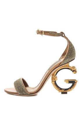 Босоножки Keira Dolce & Gabbana золотые | Фото №4