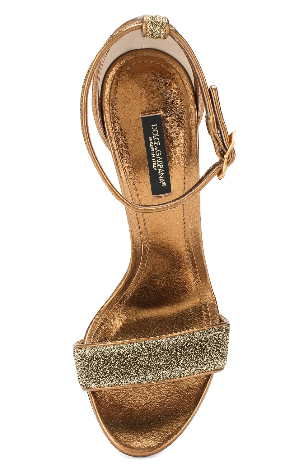 Босоножки Keira Dolce & Gabbana золотые | Фото №5