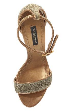 Босоножки Keira Dolce & Gabbana золотые | Фото №6