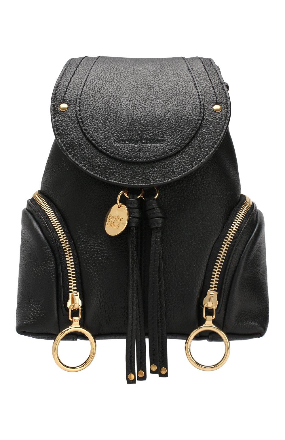 Женский рюкзак olga SEE BY CHLOÉ черного цвета, арт. CHS17AS922349 | Фото 1