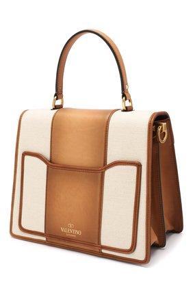 Сумка Valentino Garavani Uptown Valentino коричневая цвета | Фото №3