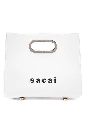 Женская кожаная сумка SACAI белого цвета, арт. S034-01 | Фото 1