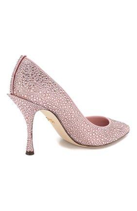 Туфли Lori Dolce & Gabbana розовые | Фото №4