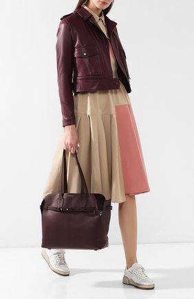 Сумка Soft Belt Bag Burberry бордовая цвета | Фото №2