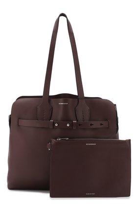Сумка Soft Belt Bag Burberry бордовая цвета | Фото №3