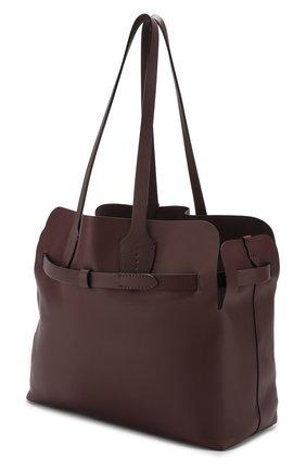 Сумка Soft Belt Bag Burberry бордовая цвета | Фото №4