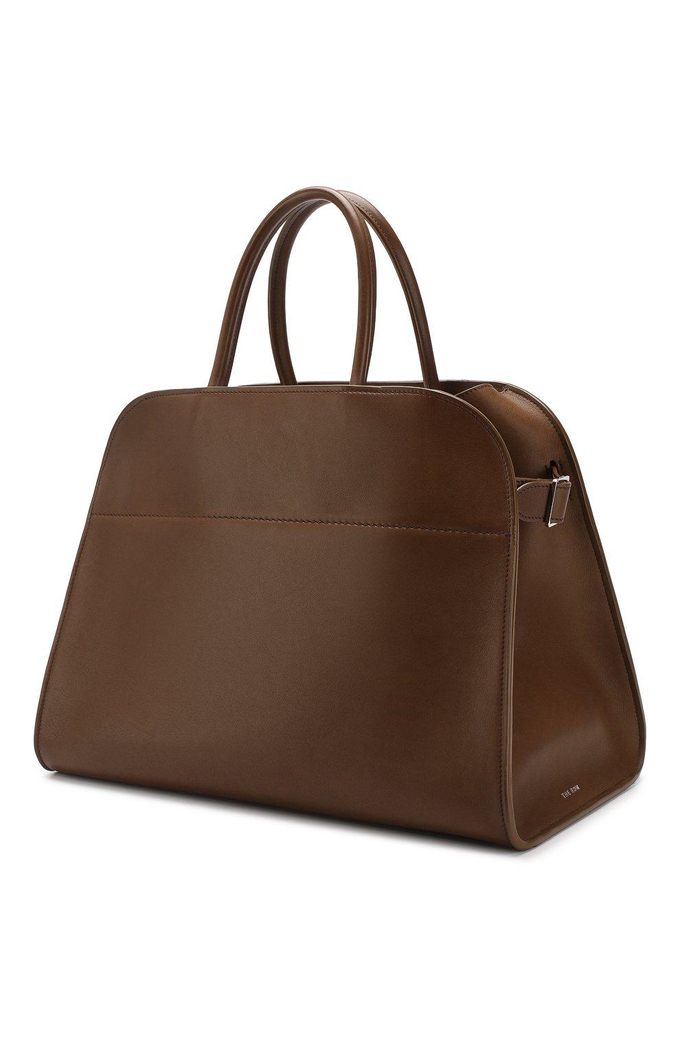 Кожаная сумка The Row хаки цвета | Фото №3