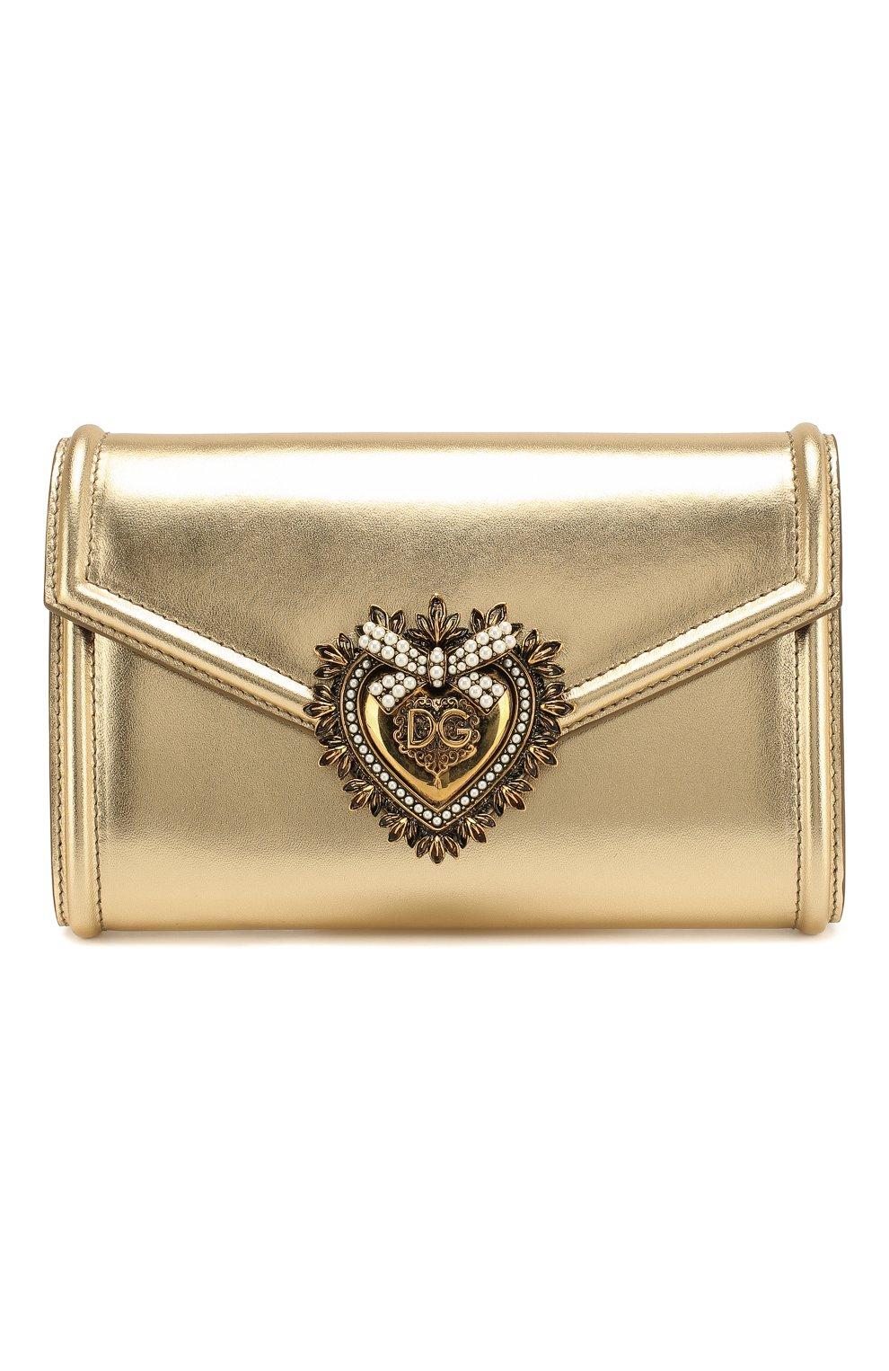 Женская поясная сумка devotion DOLCE & GABBANA золотого цвета, арт. BB6706/A1016 | Фото 1