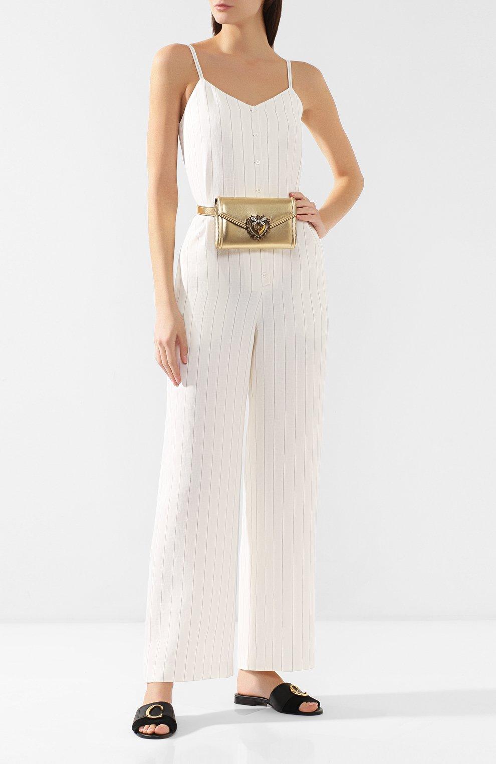 Поясная сумка Devotion Dolce & Gabbana золотая | Фото №2