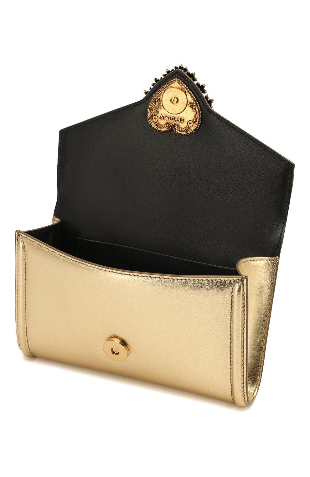 Женская поясная сумка devotion DOLCE & GABBANA золотого цвета, арт. BB6706/A1016 | Фото 4