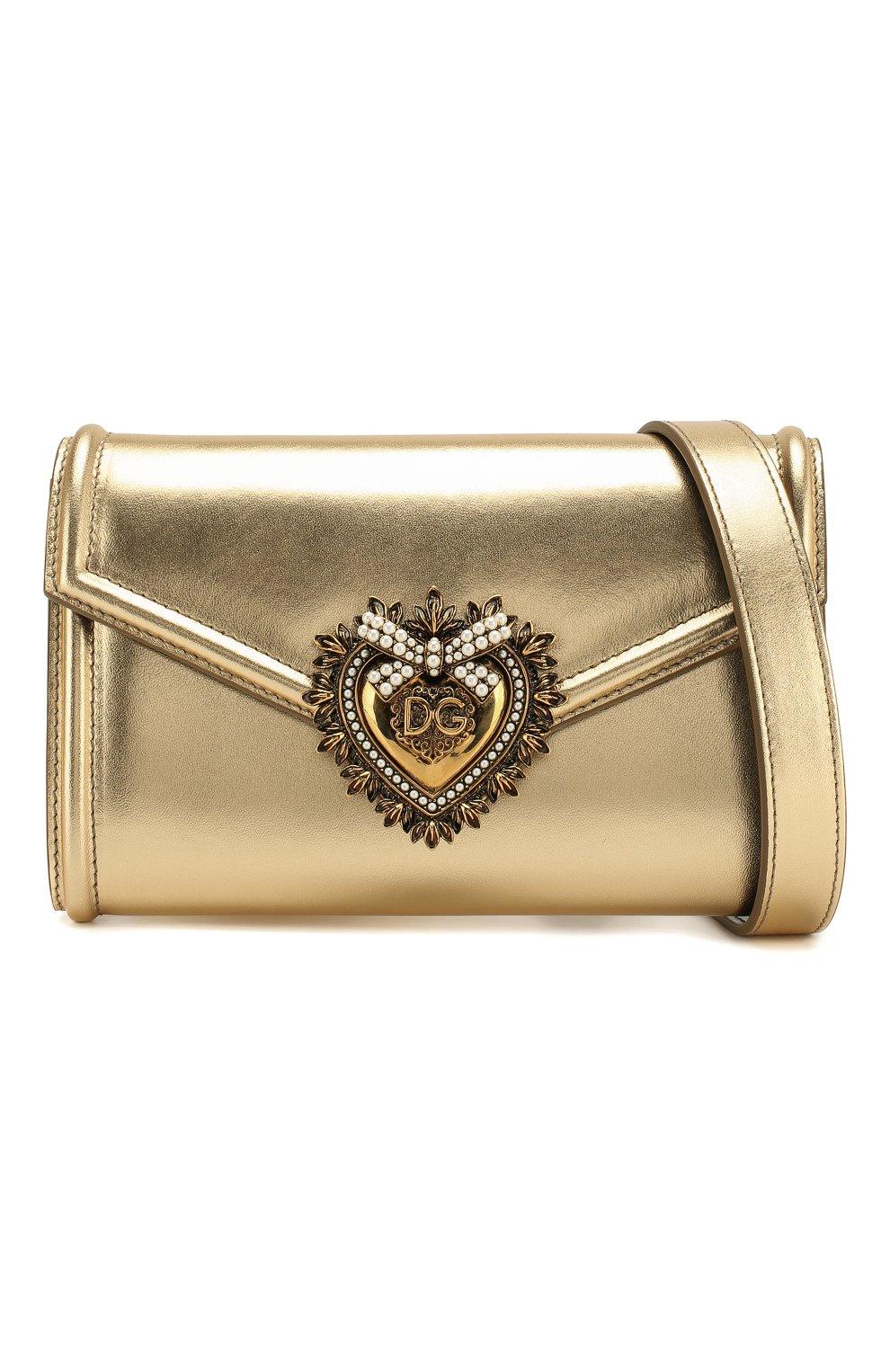 Женская поясная сумка devotion DOLCE & GABBANA золотого цвета, арт. BB6706/A1016 | Фото 5