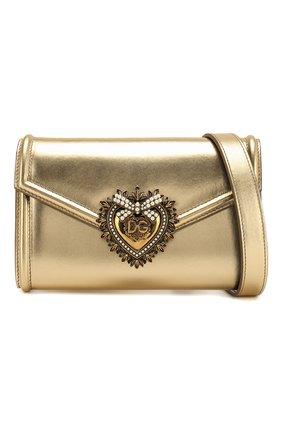 Поясная сумка Devotion Dolce & Gabbana золотая | Фото №5