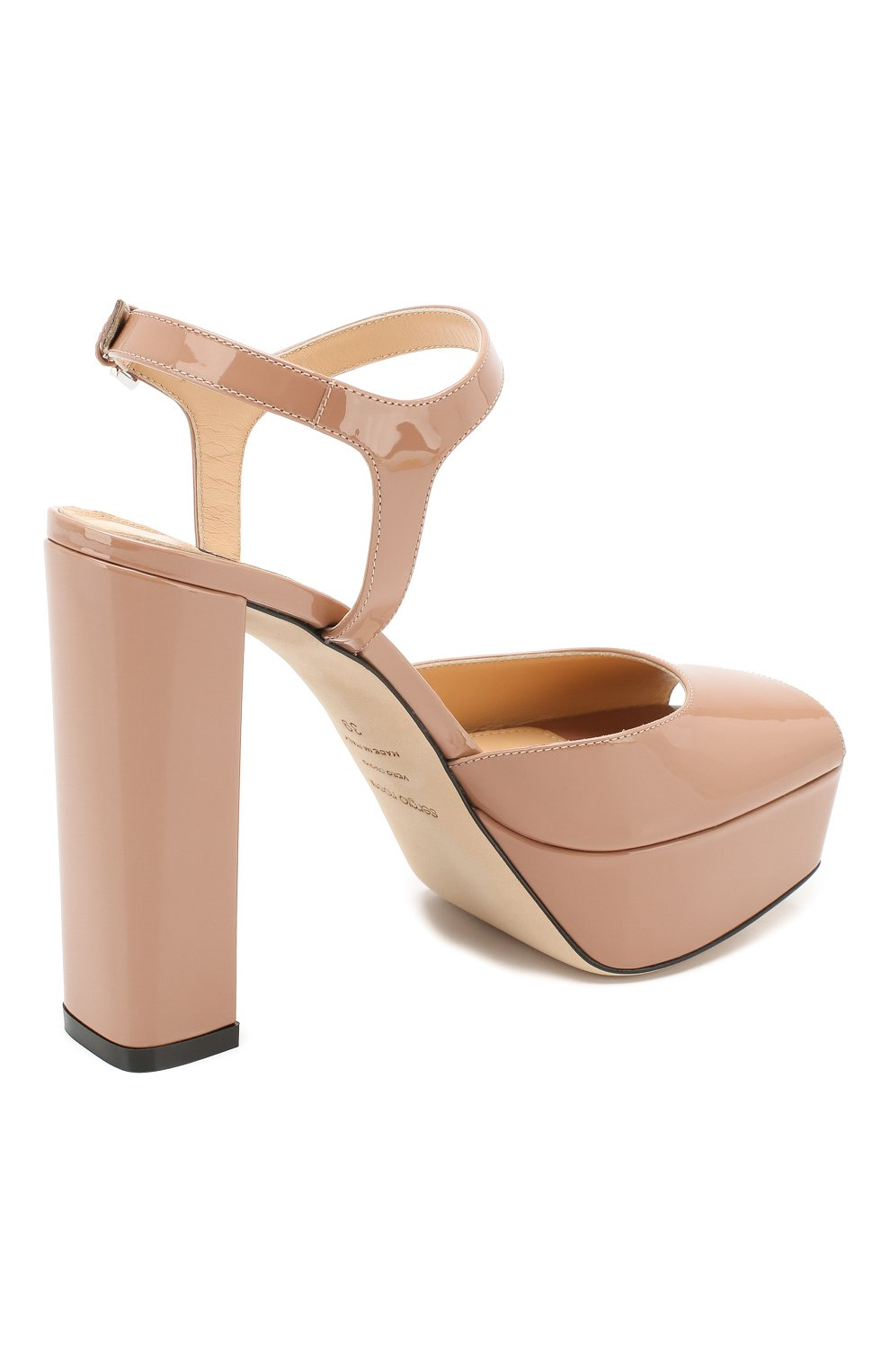 Лаковые босоножки Sergio Rossi светло-розовые | Фото №4