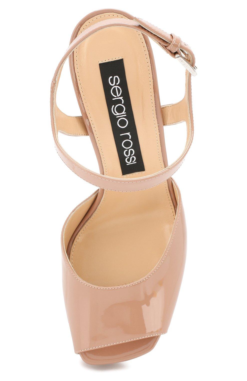 Лаковые босоножки Sergio Rossi светло-розовые | Фото №5