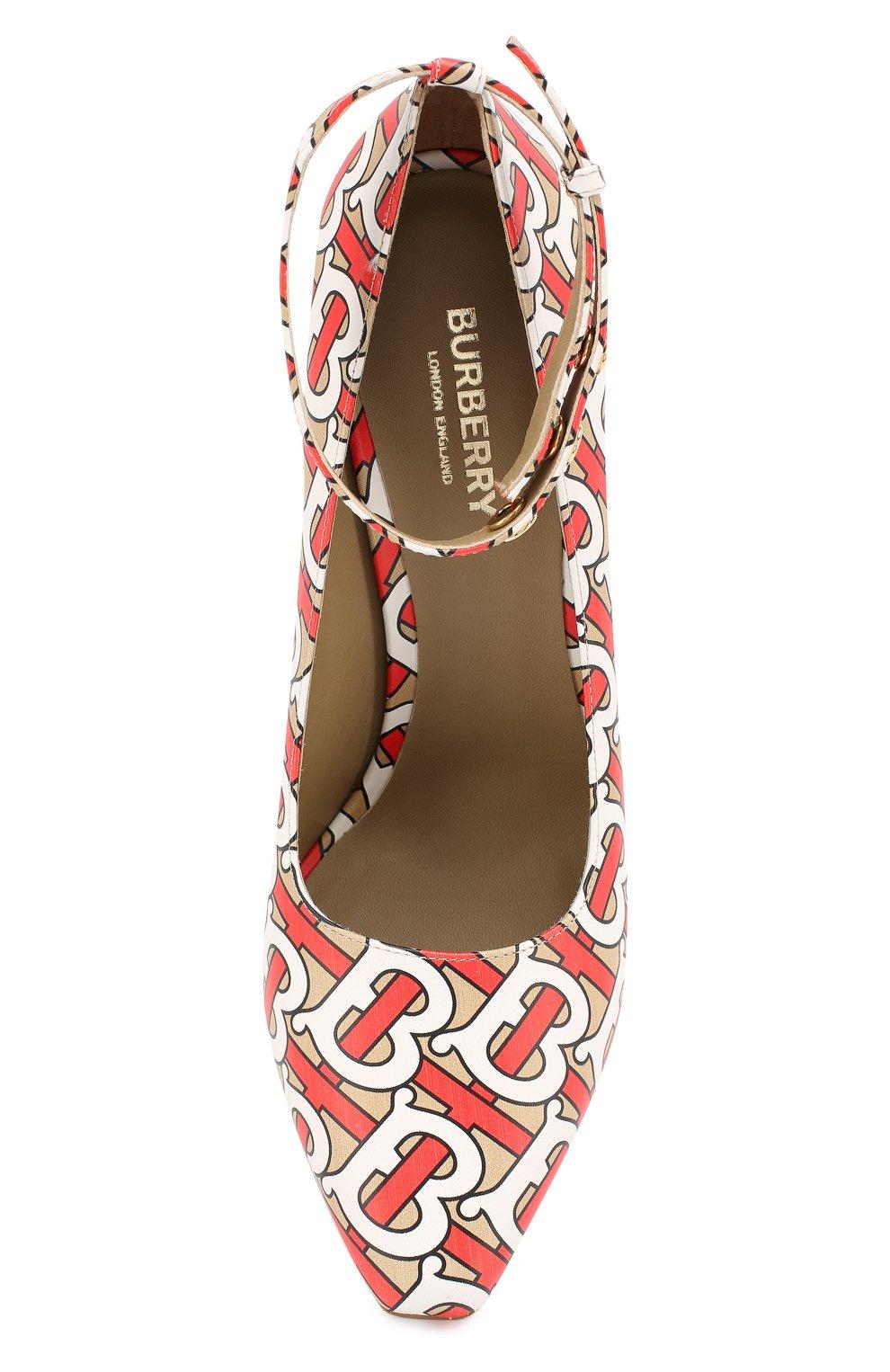 Кожаные туфли Burberry разноцветные | Фото №5