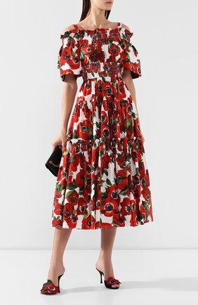 Мюли с аппликациями Dolce & Gabbana черные | Фото №2